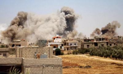 قصف جوي لنظام الإجرام الأسدي والغُزاة الروس للمناطق المحررة