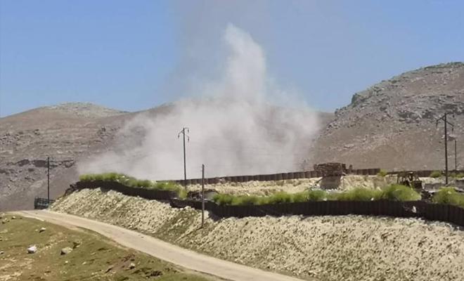 إحتراق نقطة مراقبة شير مغار التركية إثر استهدافها من قبل عصابات الأسد