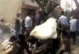 انفجار سيارة ملغمة باستهداف مقراً للمليشيات الكردية الإرهابية في مدينة القامشلي