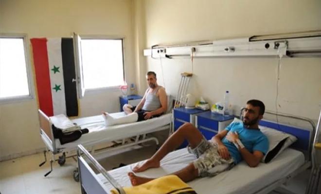 بإجبار من الأمن التابع لنظام الأسد...المعتقلين في سجن حمص يتبرعون بالدم