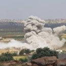 عشرة شهداء بقصف لطائرات الإجرام الأسدي على ريف إدلب