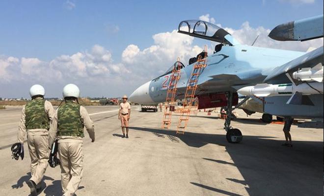 هجوم بأجسام غريبة على قاعدة حميميم العسكرية التابعة للغُزاة الروس