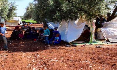مئات آلاف النازحين جراء الحملة العسكرية لنظام الأسد والغُزاة الروس على إدلب